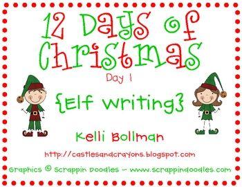 Elf on the Shelf Writing printables {FREE}