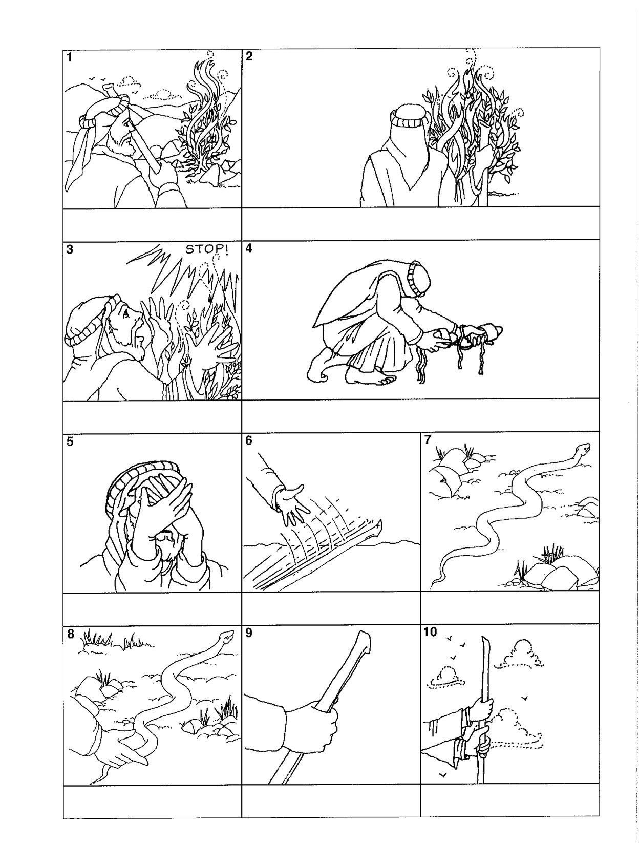 Bible Story Coloring Pages Moses And The Exodus