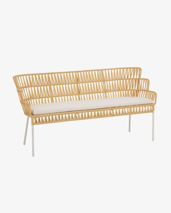 Mustard Robyn Bench 160 Cm Kave Home In 2020 Wooden Outdoor Furniture Kave Home Seat Foam