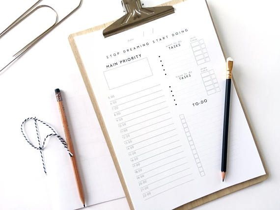 simple daily planner