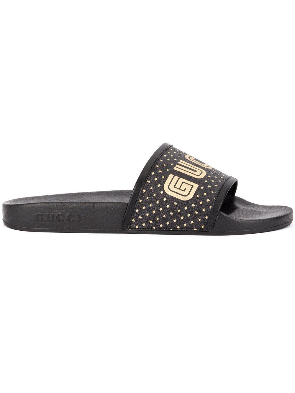 6c799e5e2e7f8 rubber slide sandal gucci mens sandals 308234gib101098 great fit ...