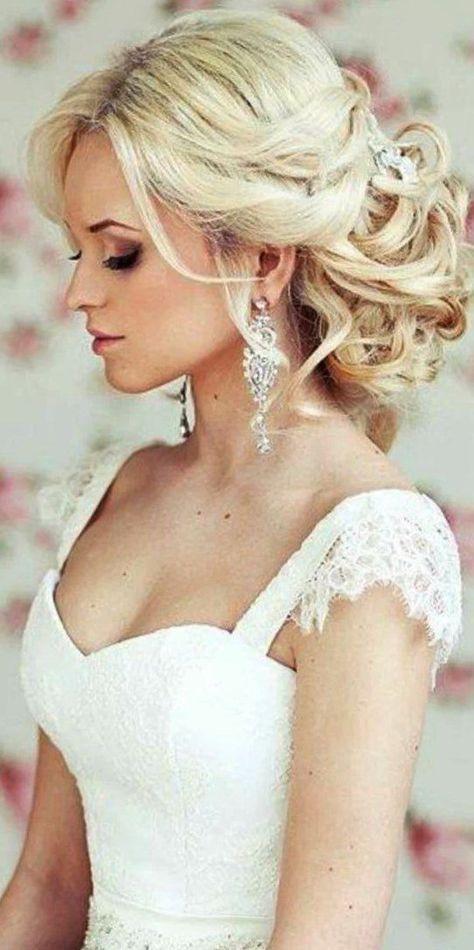 Brautfrisur mit Schleier romantische Hochsteckfrisur Bildergebnis ...