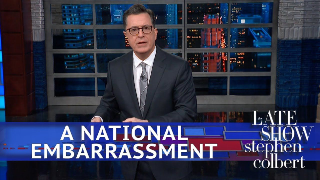 The Embarrassing President Feels Embarrassed Youtube Stephen Colbert Cbs All Access Tvs