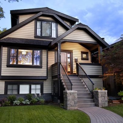 Exterior dark trim home ideas exterior house colors - Cost to paint house exterior trim ...