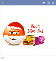 Wish your friends a Merry Christmas in Spanish with this smiley.