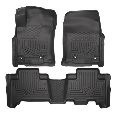 Husky Liners WeatherBeater Gray Front Floor Liners for 2018 Toyota Tacoma