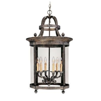 World imports chatham collection 6 light french bronze outdoor world imports chatham collection 6 light french bronze outdoor hanging mount chandelier lantern wi160663 the home depot mozeypictures Choice Image