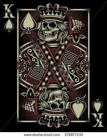Skull King Playing Card Tattoos Card Tattoo Designs Card Tattoo