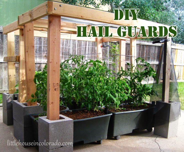 Kleines Haus in Colorado DIY Hagelschutz für den Garten