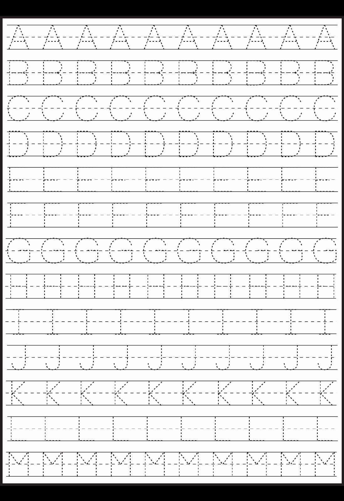 Handwriting Worksheets For Preschoolers In