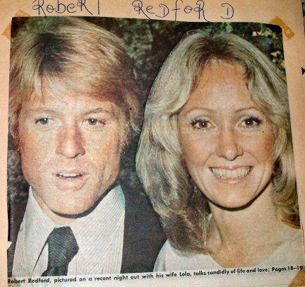 Redford Robert With Wife Lola Van Wagenen Robert Redford I Robert