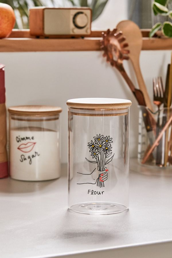 Large Wooden Lid Glass Storage Jar In 2020 Jar Storage Glass