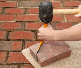 How To Cut Paver Stones With A Chisel Landscape