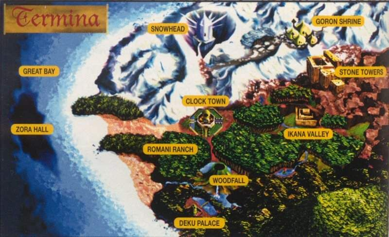 Majora S Mask Zelda World Map Google Search Joshua Stuff Zelda