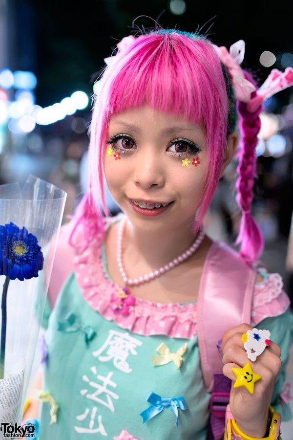 Haruka Kurebayashi Is A Popular Japanese Kawaii Model And Designer Who Is Often Seen Around Harajuku Harajuku Fashion Street Kawaii Hairstyles Harajuku Girls