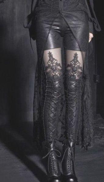 Photo of Punk Rave womens Gothic embossed decorative pattern leggings Pants Steampunk #Pu…