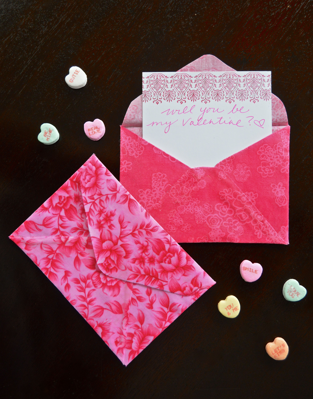Fabric Valentine S Day Envelopes Valentines Pinterest