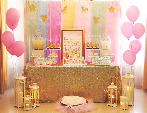 Glamorous Unicorn Baby Shower Dessert Table Welcome Baby Party Unicorn Baby Shower Decorations Unicorn Baby Shower Theme