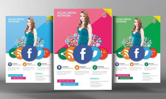 Social Media Flyer Template By Business Templates On