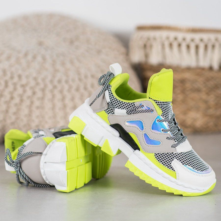 Seastar Stylowe Sneakersy Z Efektem Holo Wielokolorowe Zolte Sneakers Nike Nike Huarache Shoes