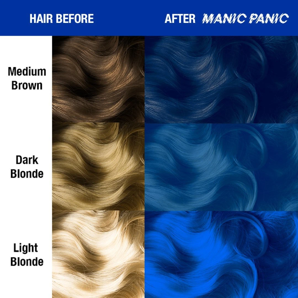Manic Panic Voodoo Rockabilly Blue Hair Colors Ideas Light Hair Color Hair Color Bright Hair
