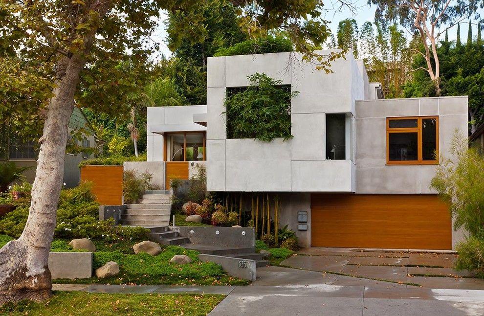 Casa Stile Moderno Esterni : Facciate ed esterni di case moderne dal design asiatico my home