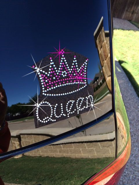 Queen rhinestone car decal by 1sharpfan on etsy 12 00