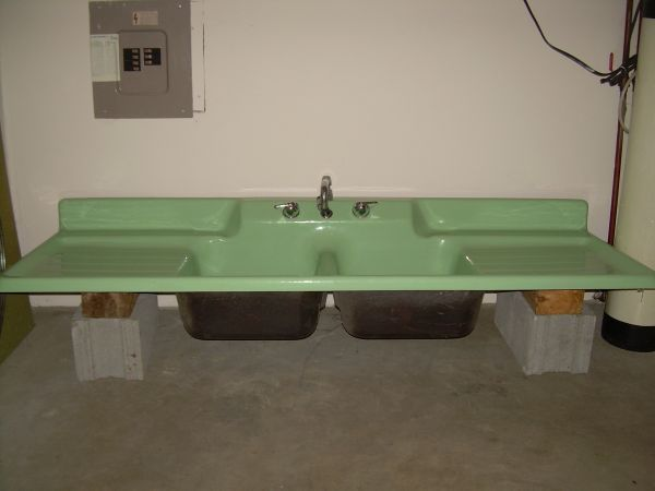 This is the exact sink I want (although not in seafoam ...