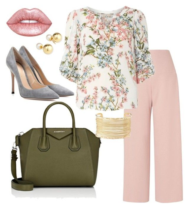 """""""Floral Pastel"""" by alyssaashley1 on Polyvore featuring L.K.Bennett, Billie & Blossom, Givenchy, Gianvito Rossi, Charlotte Russe, Yoko London and Lime Crime"""