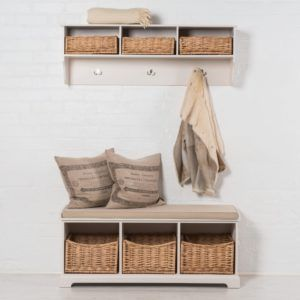 New Hallway Storage Bench with Coat Rack