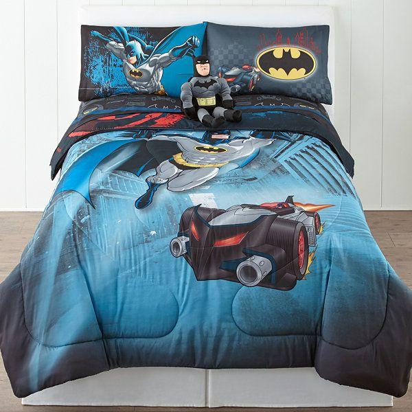 Batman Guardian Speed Reversible Twin Full Comforter Set