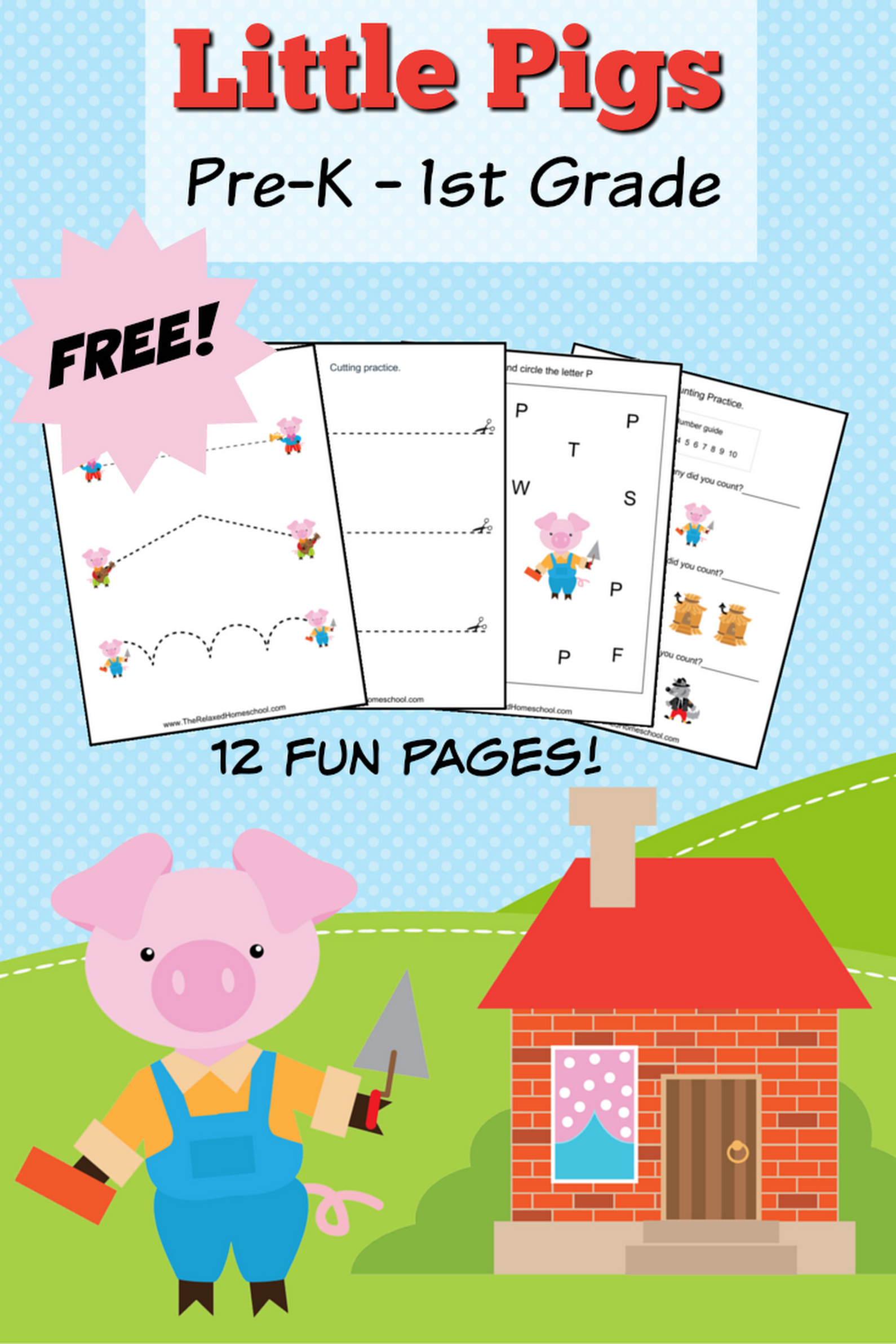 Free Three Little Pigs Theme Pack