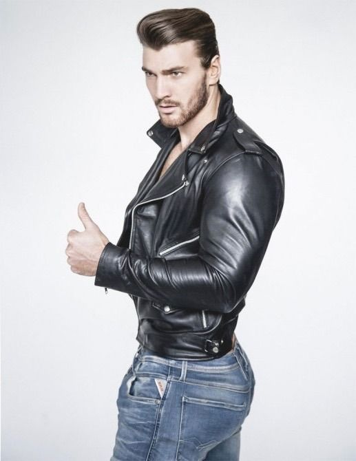 Sexy men in leather