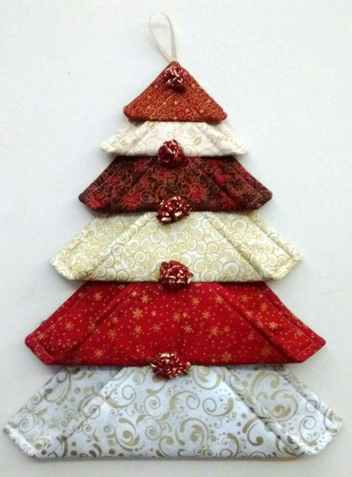 Pin By Barb Roberts On At The Christmas Store Fabric Christmas Ornaments Fabric Christmas Trees Christmas Sewing