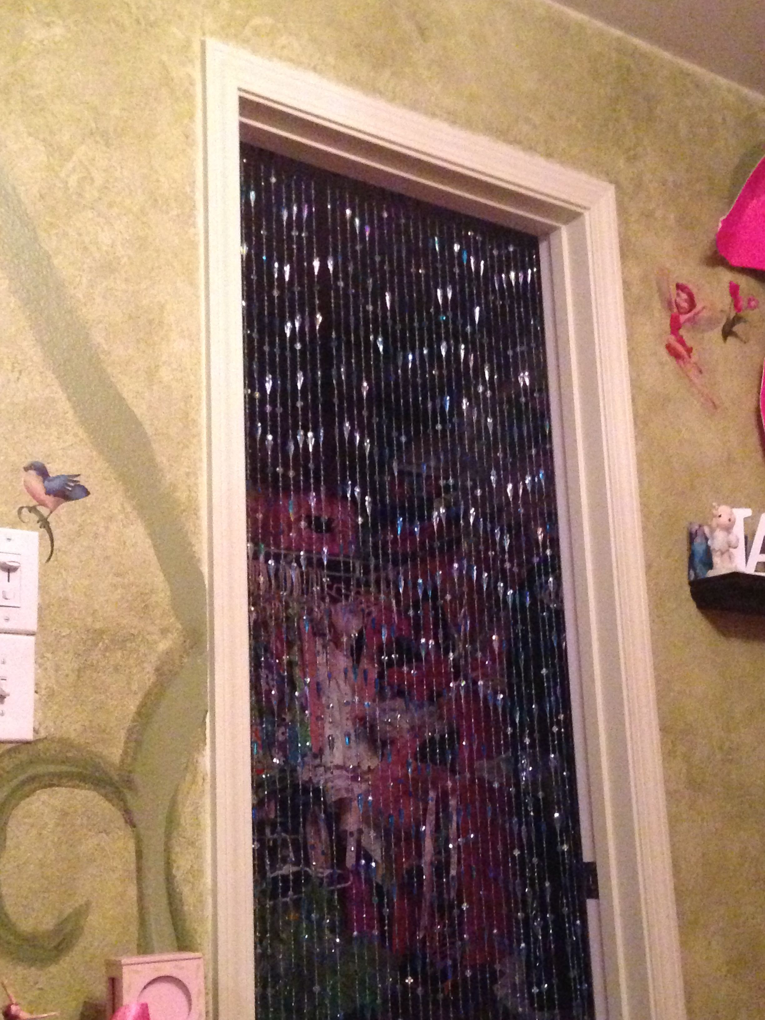 Bead Curtain As Closet Door For Little Girls Room Curtains For