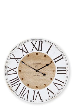 buy rustic numeral wall clock from the next uk online shop