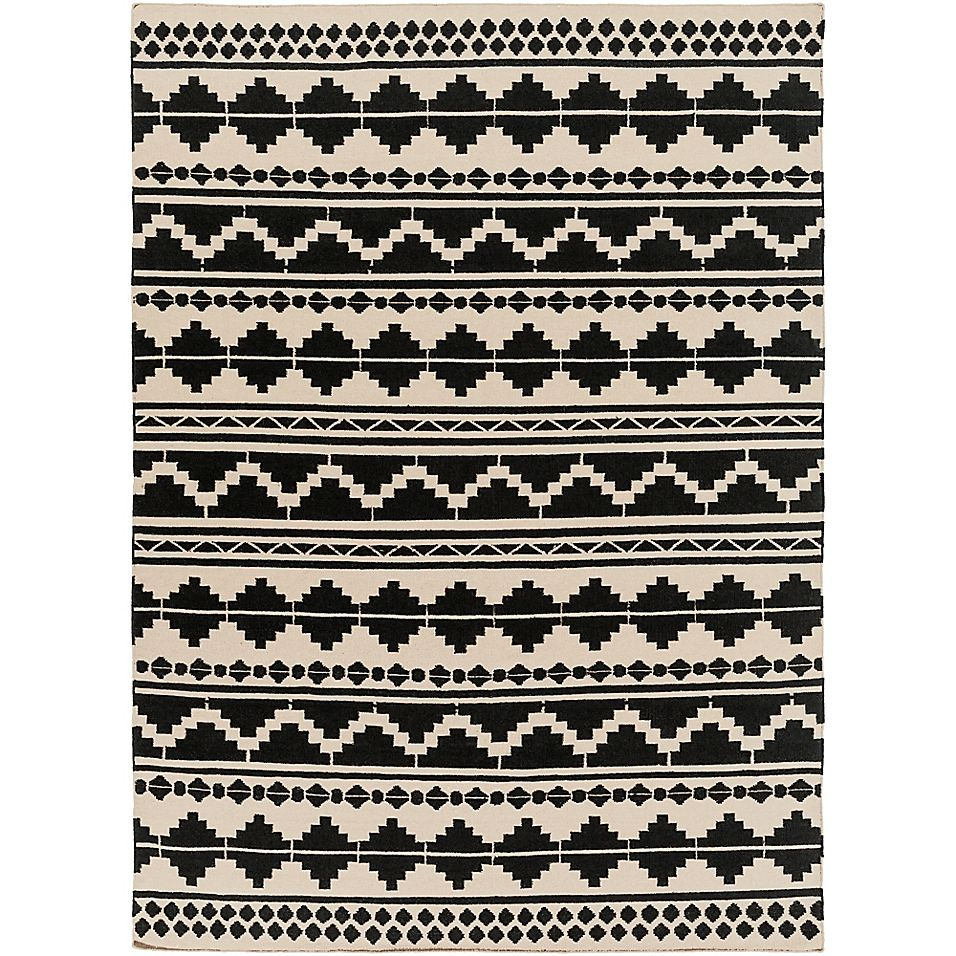 Surya Frontier Southwest 8 X 11 Area Rug In Taupe Black