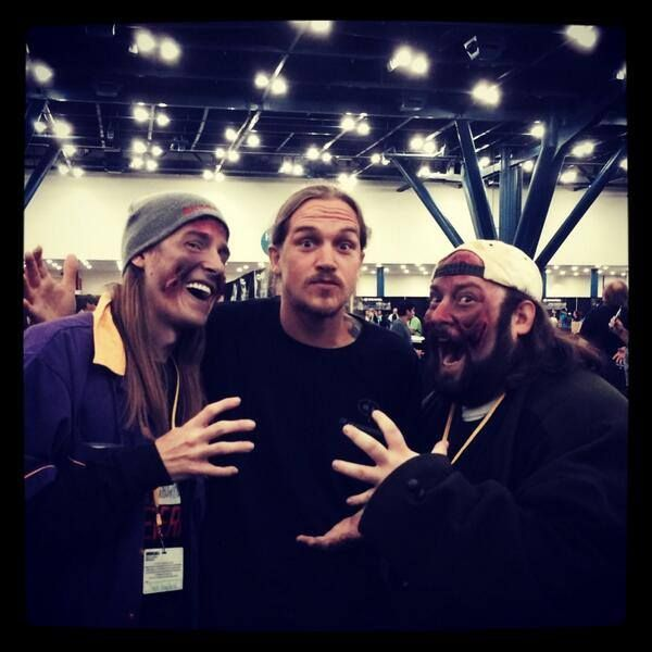 oh snap! ZOMBIES — with Jay and Silent Bob at Comicpalooza.  https://www.facebook.com/photo.php?fbid=710353069032493
