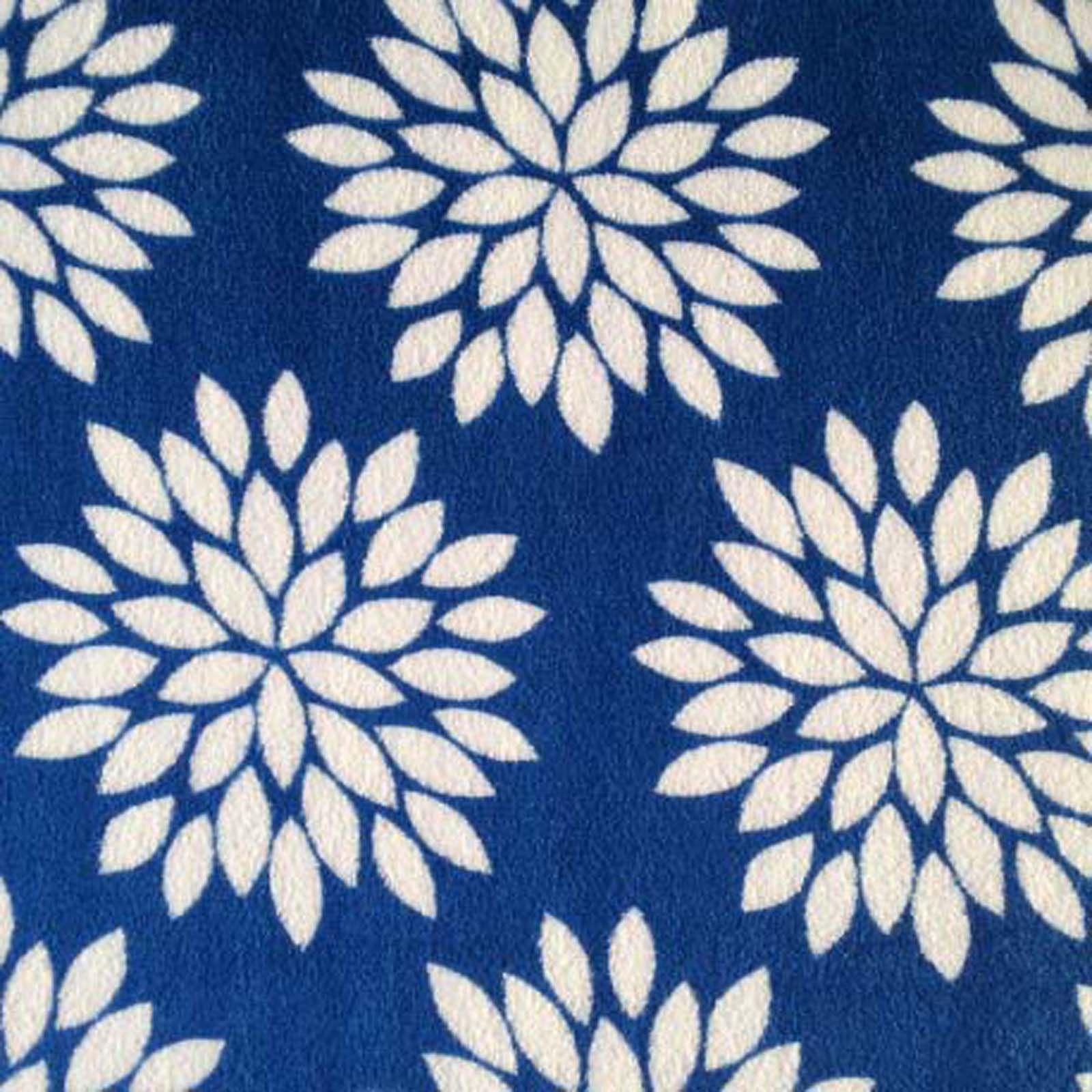 Ultra cuddle fabric mums blueultra cuddle fabric mums blue