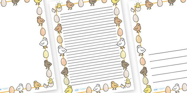Chick And Eggs Page Borders (A4) | Chicken Life Cycle | Pinterest ...