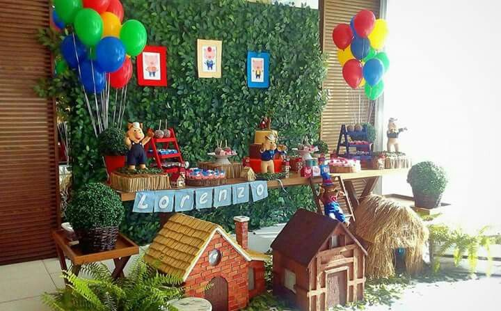Decoração dos Três Porquinhos #festadostresporquinhos #ostresporquinhos #decoraçãodostresporquinhos #bethdecora #beth_decora #elisabethschauerte