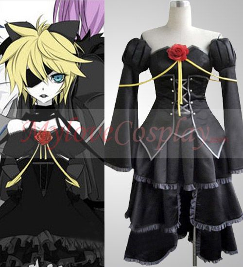 Vocaloid Rin Kagamine Dress Girls Halloween Costume