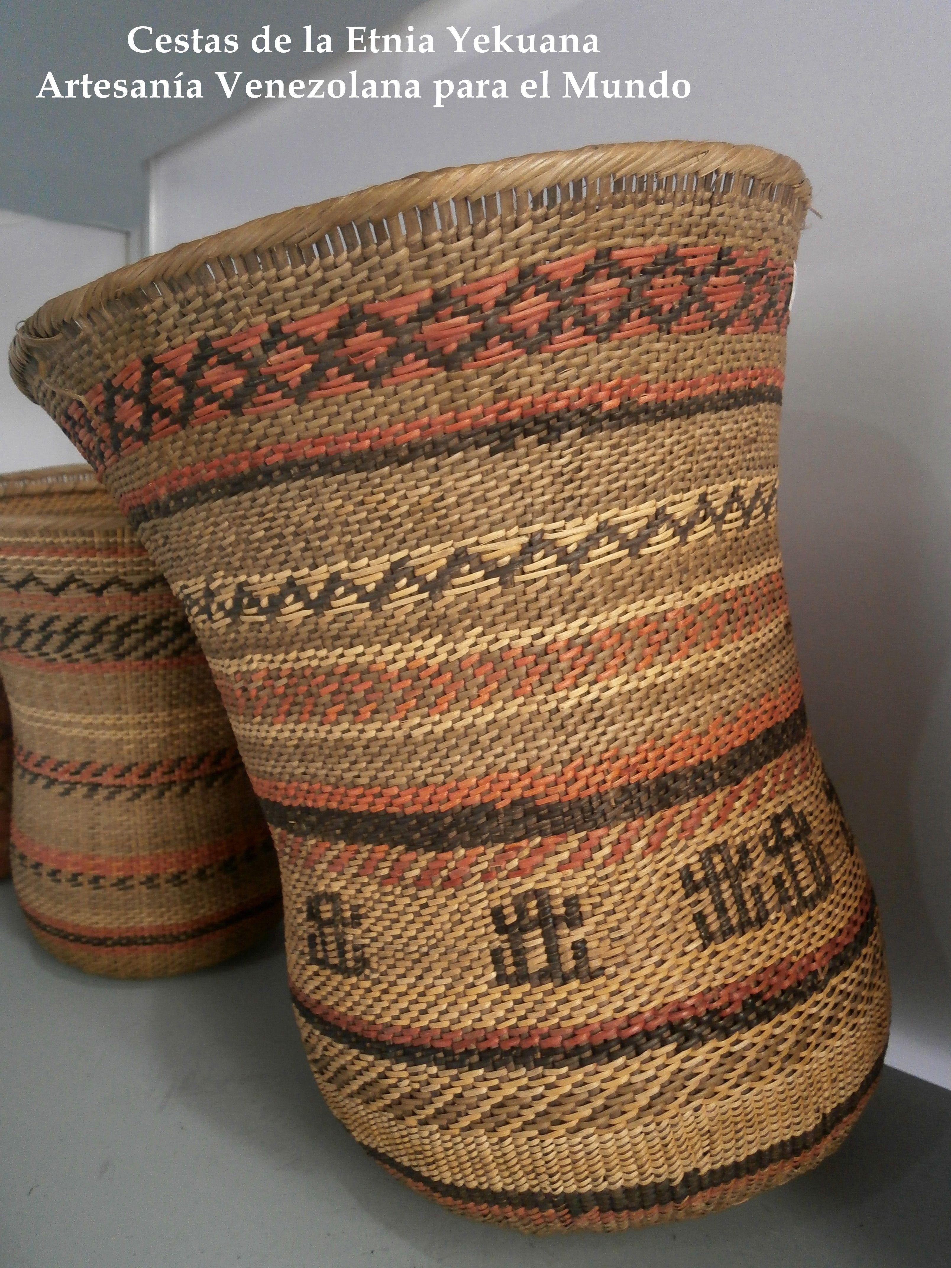 Cesta Etnia Yekuana En las cestas usan las siguientes técnicas ...