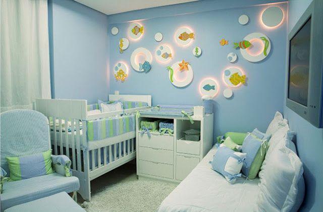 dormitorio bebe cuarto bebe decoracion infantil infantiles bebes mar azul consejos ambiente cama auxiliar