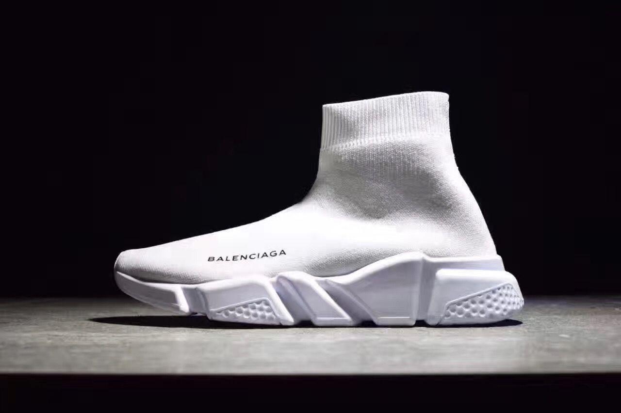 Balenciaga Speed Low-Sock Stretch-Knit Sneakers White : SUPCLUB High Street  Fashion Clothing