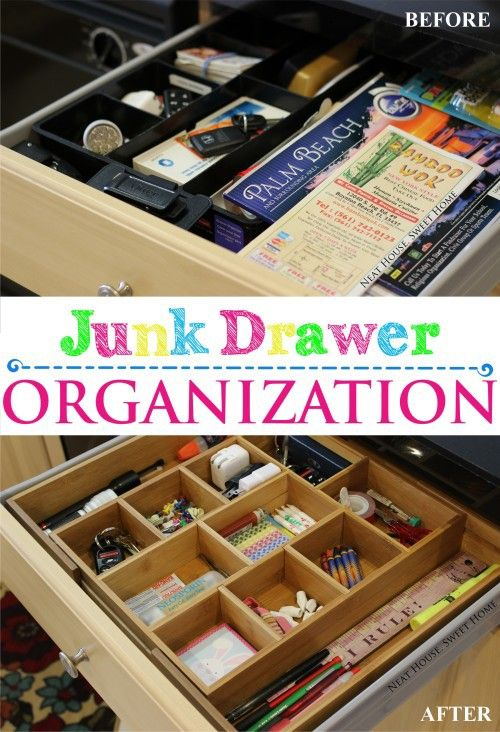 Organize your junk drawer in minutes.