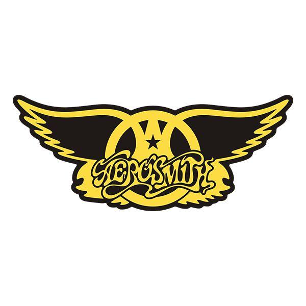 Aerosmith Wings Band Rock N Roll Vinyl Sticker Decal Carteles De Rock Aerosmith Pegatinas