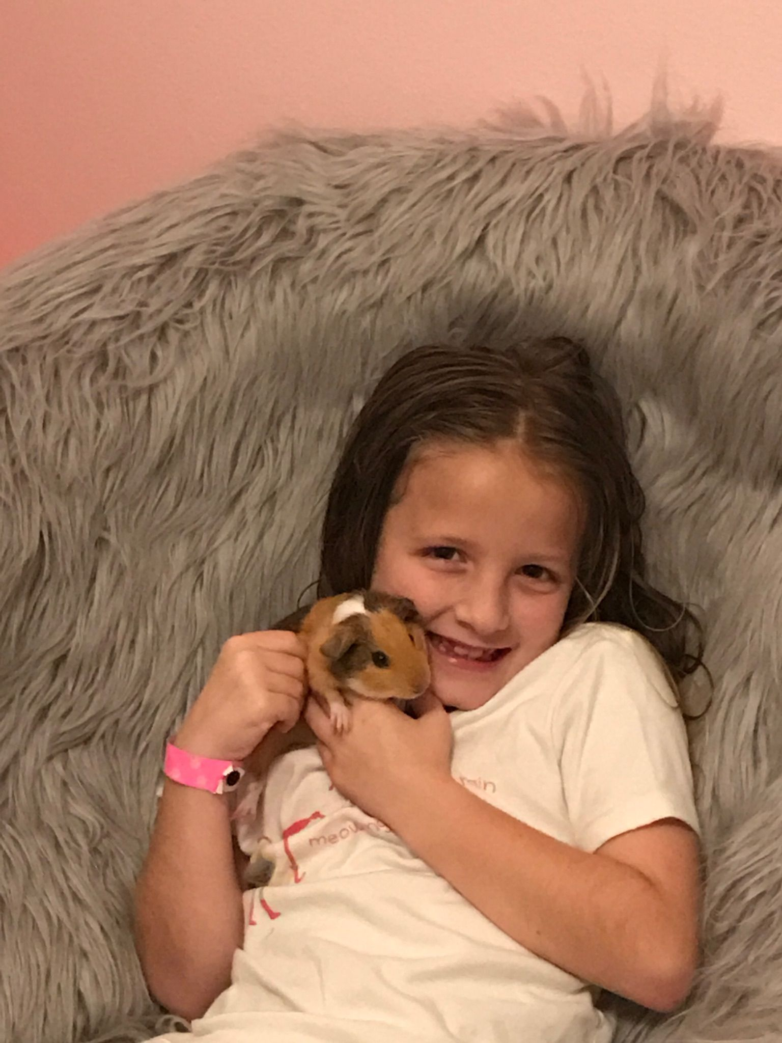 Sister hannah with gennie pig