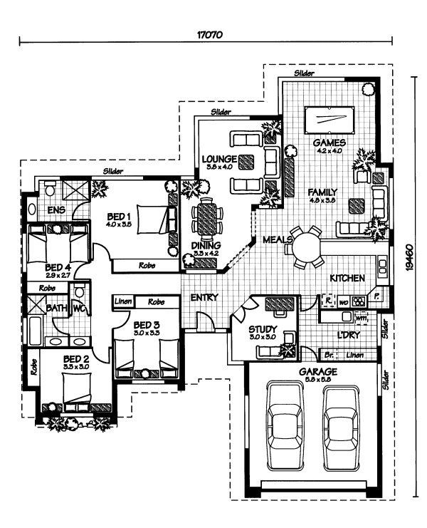 The Flinders Australian House Plans Australian House Plans Architectural Floor Plans House Plans