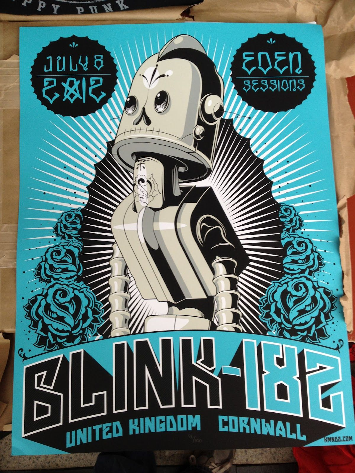 Exclusive World Premier Tonight\'s blink 182 poster from Cornwall ...